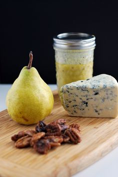 Pear, Gorgonzola & Pecan Salad  A perfect pairing on a salad with a delicious dressing. culinarymamas.com