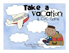Everybody will want to take a vacation as they play this game and practice reading CVC words!  These adorable graphics make this game super cute!...
