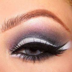 Grey smokey eyeshadow  #vibrant #smokey #bold #eye #makeup #eyes
