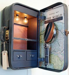 Could set one of these up with or without the door for a 'go bag' collection of things like binoculars etc