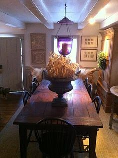 Love farm tables or what some call Harvest Tables .....nice.