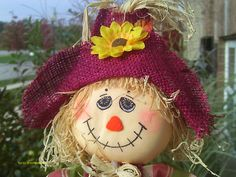 "Meet ""Abner"" 18"" TALL Handcrafted Adorable SCARECROW Fall Harvest Decor'"