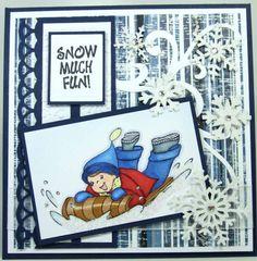Christmas Card Sledding Cooper
