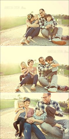 So fun - this is what two kids want to do during their family portraits.