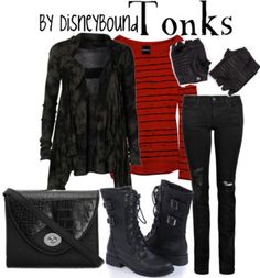 harri potter, fashion, style, dress, tonk, harry potter, disneybound, inspired outfits, character outfits