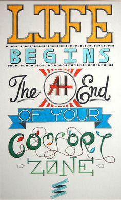 life begins typography via @lizardwijanarko http://www.ahlidesain.com