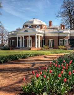 Monticello ,Thomas Jefferson's mountain top home in Virginia. #World heritage