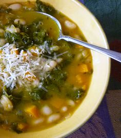 Butternut Squash, Kale & White Bean Soup