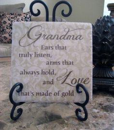 Grandma Gift Grandmother Personalized Verse by KreationsbyMarilyn. , via Etsy.