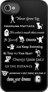 Disney phone case with all the important lessons we should have learned from watching (: @Kylee Foote Foote Shingleton