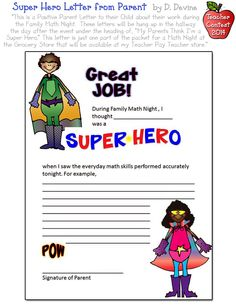 A positive letter from a parent is always fun to receive... but D. Devine. has made this letter template SUPER cute with DJ clip art!  DJ's Back to School Teacher Contest 2014