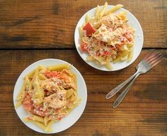 Slow Cooker Chicken & Artichoke Pasta