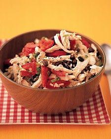 chicken, rice, and black-bean salad