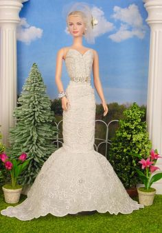 Madeira Bride for Silkstone Barbie Victoire Roux & by HankieChic