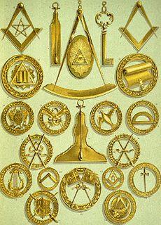 Freemasonry symbols eye star