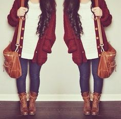 Fall ♥ combat boots outfit