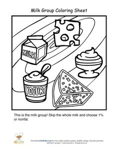 Dairy Food Group Coloring Pages  Pdfslibforyoucom