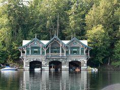 Beautiful Adirondack boathouse