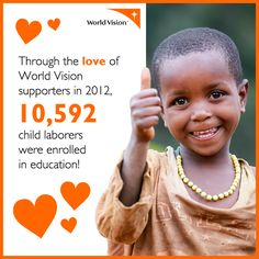 More than 115 million children worldwide are subjected to the worst forms of child labor, including trafficking for commercial sex exploitation and hazardous physical labor. World Vision works to prevent the exploitation of children, protect the most vulnerable, and bring healing to children who have been exploited.