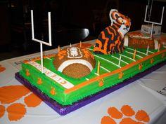 happy birthdays, clemson cakes, happi birthday
