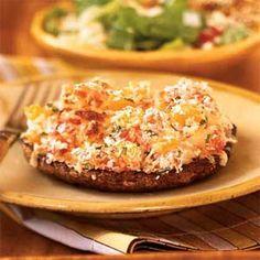 dinner, yummi stuff, stuf portobello, culinari food, mushroom recip, portobello mushroom, drink, veggi dish, mushrooms