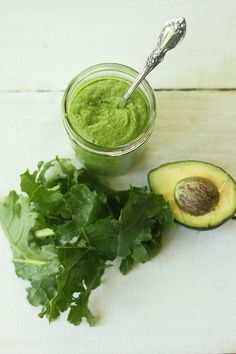 Raw kale and avocado pesto