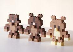 Akihiro Mizuuchi makes Lego bricks from chocolate.