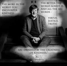 Stephen Fry...brilliant.