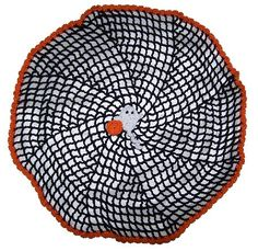 Free Crochet Pattern - Halloween Spiral Spider Web - Simple and Elegant!