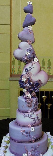Beautifully unique...WOW! #wedding #weddingcake