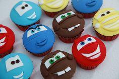 Disney Pixar Cars Character Face Cupcakes