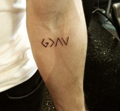 God is greater than the highs and the lows. Nick Jonas tattoo. This is too neat.