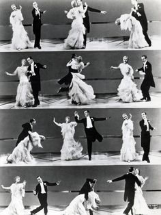 Fred Astaire and Ginger Rogers - such elegant dancers