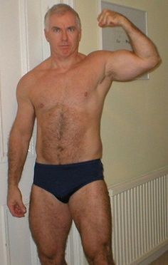 gorgeous daddy silverdaddie hairy legs chest pecs