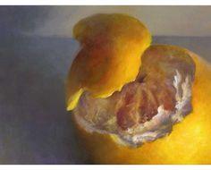 archival print of citrus fruit oil painting