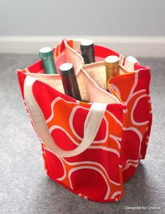 Wine Tote tutorial from Designed by Chance