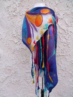 Eya Ozerova  nuno felted shawl