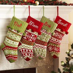 Knit Argyle / Snowflake Stockings