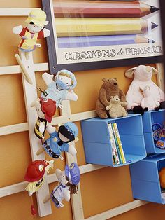 Grid Wall Project playroom storage, room organization, wall storage, kid rooms, organize kids, project ideas, toy storage, storage ideas, diy projects