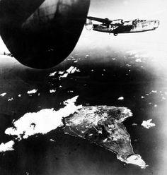 Bombing Iwo Jima.