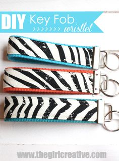 Key Fob Wristlet from The Girl Creative