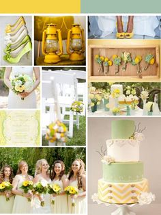 Yellow and mint green inspiration board + 4 more boards in some of the year's top colour combos.
