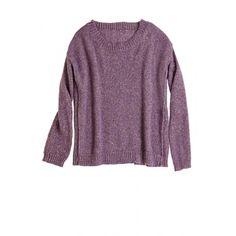 Metallic purple sweater