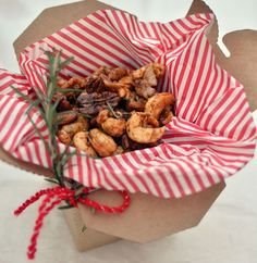 Ina Garten's Chipotle & Rosemary Spiced Nuts/This had great reviews! http://www.thekitchn.com/ina-gartens-chipotle-rosemary-133191