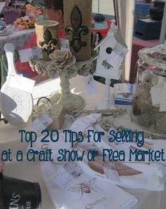 House of DIY - 20 tips for selling at a craft show or flea market, #fleamarket, #vendor, #vintage