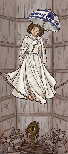 Princess Leia as a Haunted Mansion