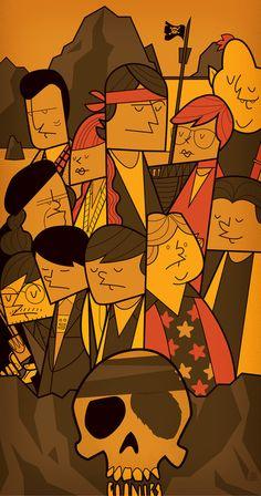 The Goonies by Ale Giorgini Inspirado pelos cartuns americanos da década de 50
