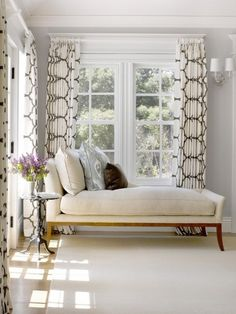 Chaise, sophisticated, polished corner nook