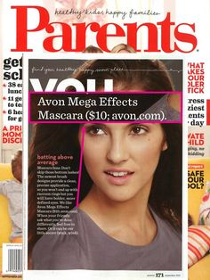 Calling all mascara fans! Avon #MegaEffects Mascara is featured in the September issue of Parents Magazine.