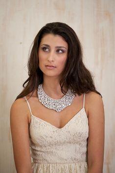Statement bridal Wedding necklace jewelry Bridal  by Hinuma, $158.00